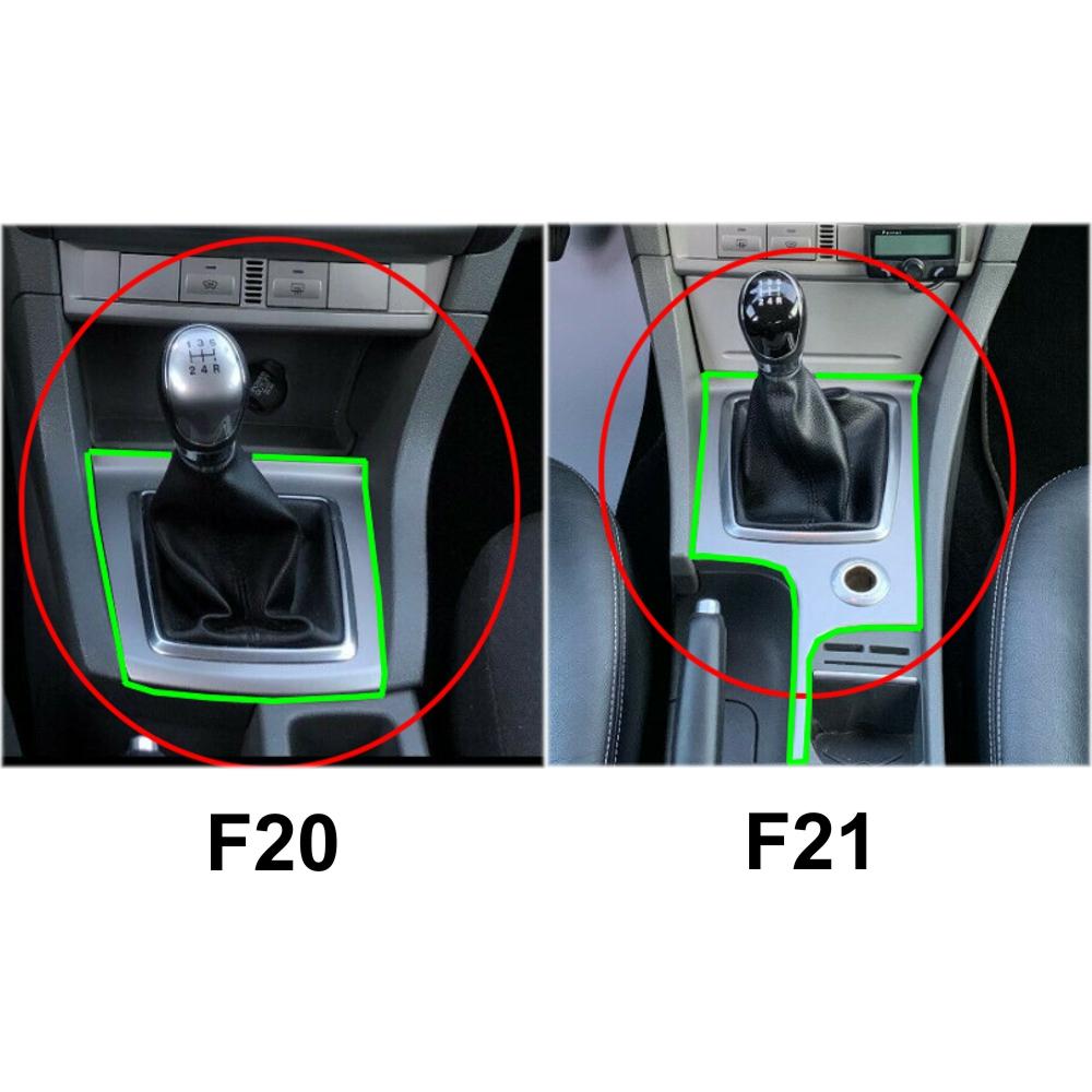 Ford Focus Mk2 Restyling 2008-2011 nur Schaltsack Echtes Leder 100/% Schwarz